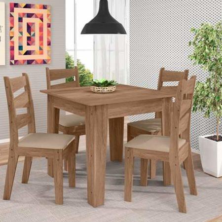 Table à manger + 4 chaises en bois sapin