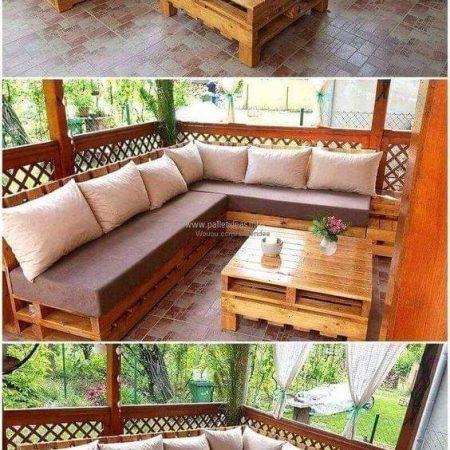 Canapé 7 places avec 1table +coussin