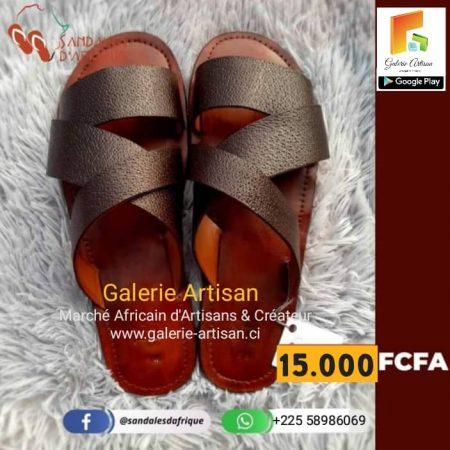 Sandale en cuir Homme S4