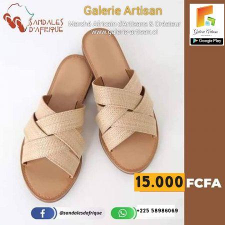 Sandale en cuir Femme S1