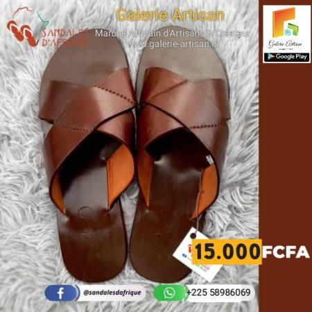 Sandale en cuir Homme