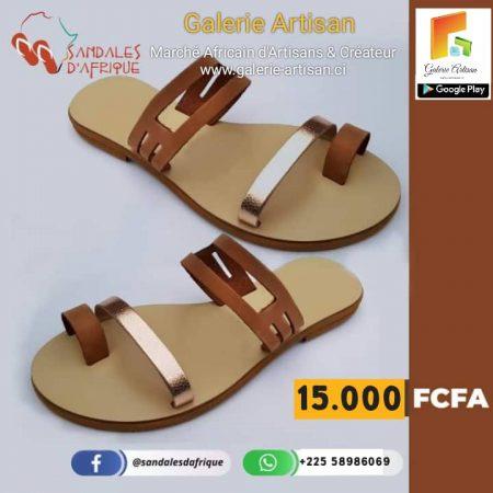 Sandale en cuir Femme S3