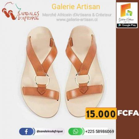 Sandale en cuir Femme S6