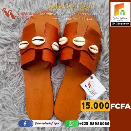 sandale en cuir Femme S10