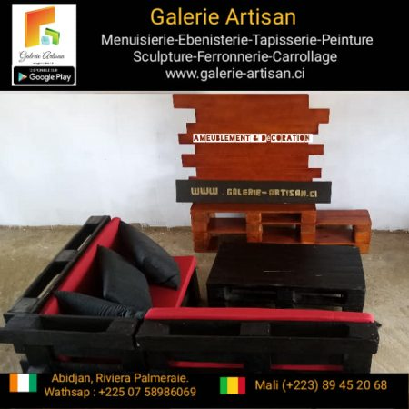 Salon Gloria 05 places + 1 table + 1 meuble télé